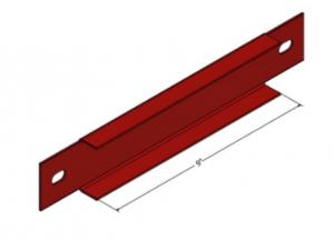 Pallet rack row spacer